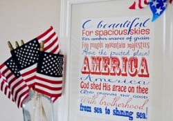 """America the Beautiful"" Subway Art ~ Free Printable"