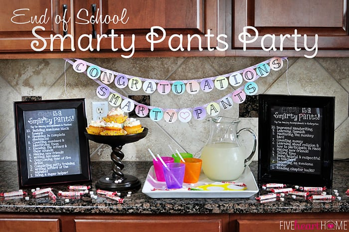 photo relating to Smartie Pants Printable titled Conclude of College Smarty Trousers Celebration + Cost-free Printable Banner