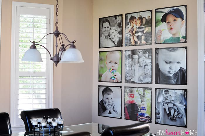 Family photo wall by five heart home 700pxhorizttv