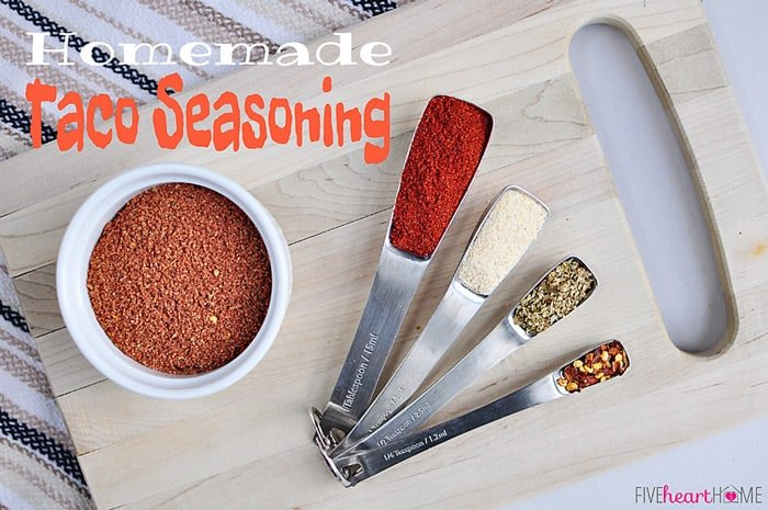 Homemade Taco Seasoning | FiveHeartHome.com