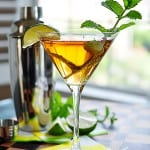 Mint and Lime Sweet Tea Martini | {Five Heart Home}