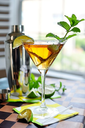 Mint & Lime Sweet Tea Martini