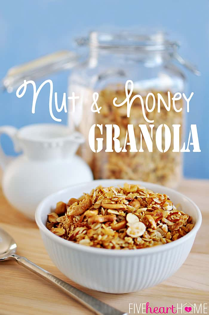 Homemade Nut and Honey Granola ~ with coconut oil