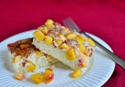 Peach Cobbler Pancake Squares | {Five Heart Home}