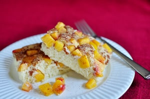 Peach Cobbler Pancake Squares