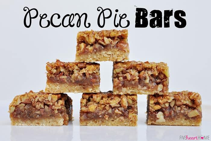Pecan Pie Bars | {Five Heart Home}