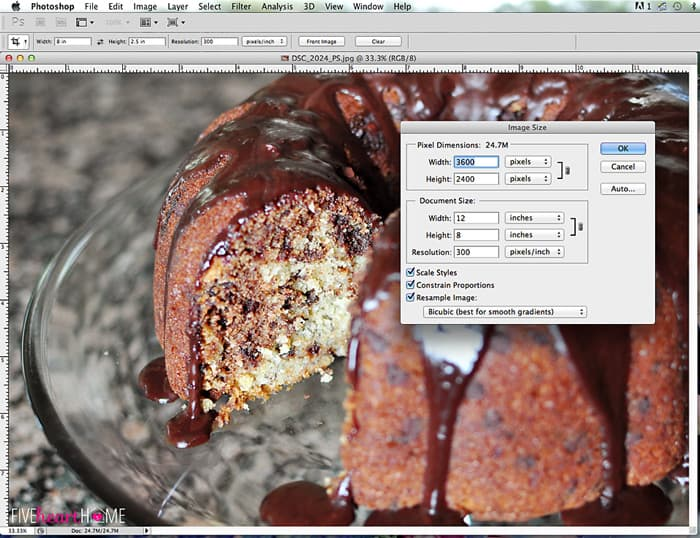 how to blow up pictures using Photoshop