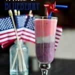 Razz, White, & Blueberry Smoothie ~ perfect for the Fourth of July! | {Five Heart Home}
