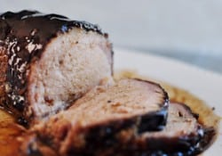 Slow Cooker Honey Balsamic Pork Loin | {Five Heart Home}