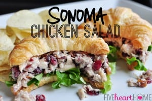 Sonoma Chicken Salad  |  {Five Heart Home}