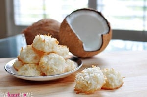 Coconut Macaroons ~ Classic or Chocolate-Dipped
