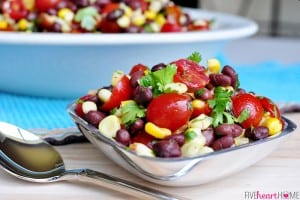 "Corn, Black Bean & Tomato Salad ~ this version of ""Texas Caviar"" is delicious as a side salad or as a dip with chips 
