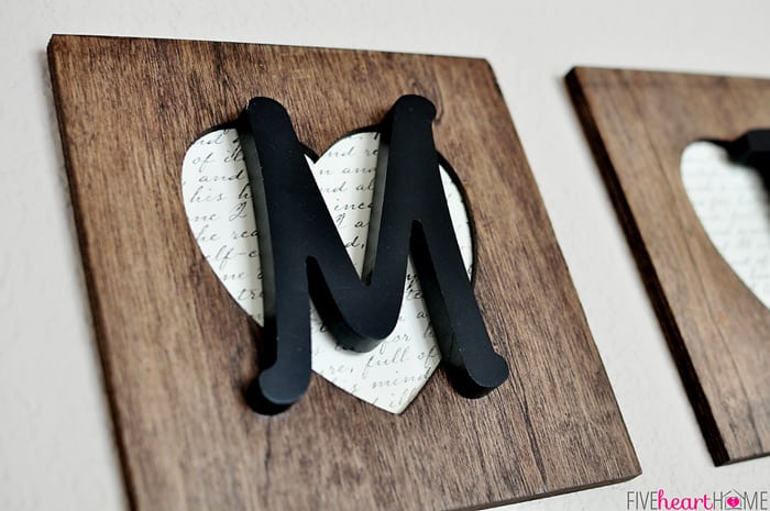 Family lettering wall decor for Wooden heart wall decor