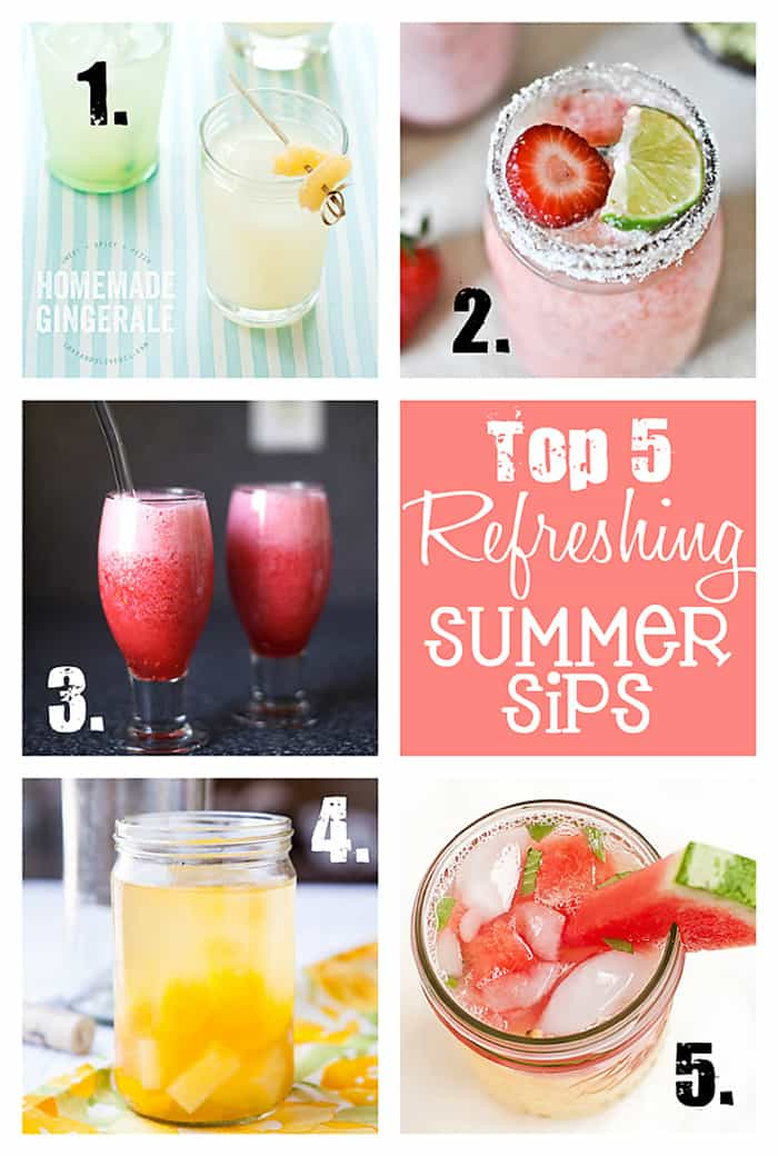 Top 5 Refreshing Drinks for Summer  |  {Five Heart Home}