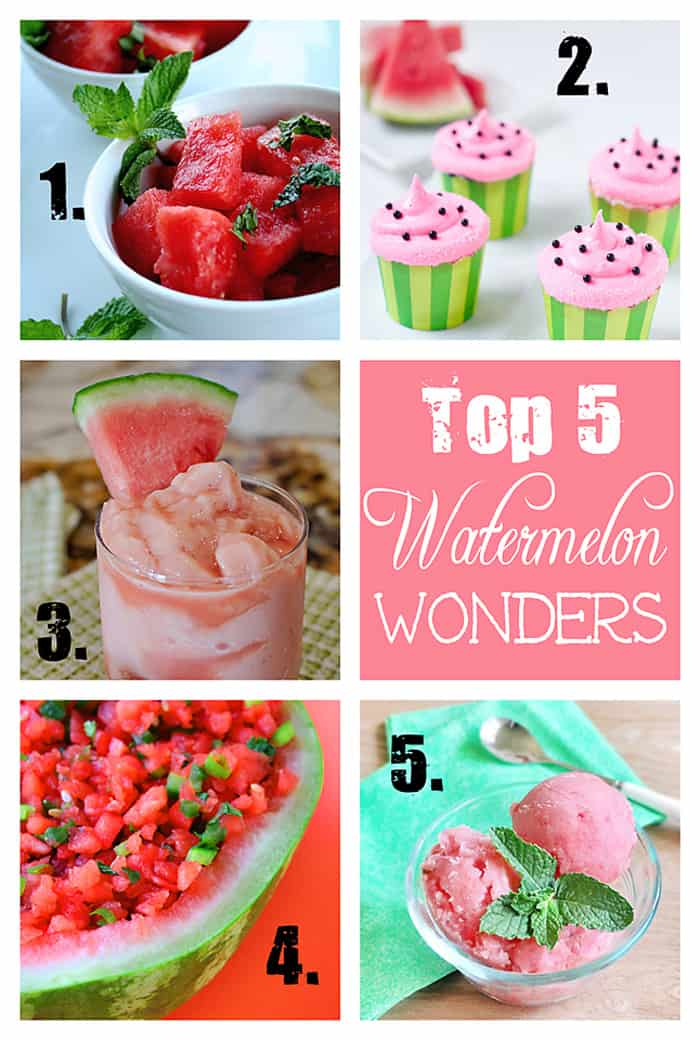 Top 5 Summertime Watermelon Recipes | {Five Heart Home}