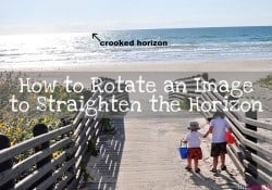 Photoshop Tutorial: How to Rotate an Image to Straighten the Horizon