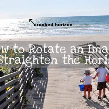How to Rotate an Image in Photoshop to Straighten the Horizon | {Five Heart Home}