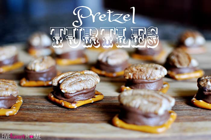 Pretzel Turtles ~ only 3 ingredients! | {Five Heart Home}
