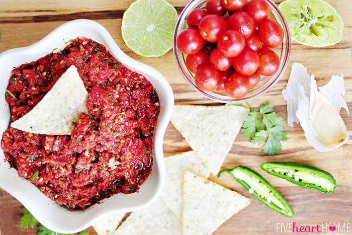 Roasted Texas Salsa | FiveHeartHome.com