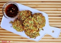 Zucchini Fritters with Asian Dipping Sauce