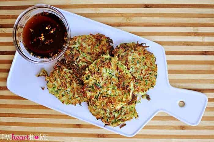 Zucchini Fritters  |  {Five Heart Home}