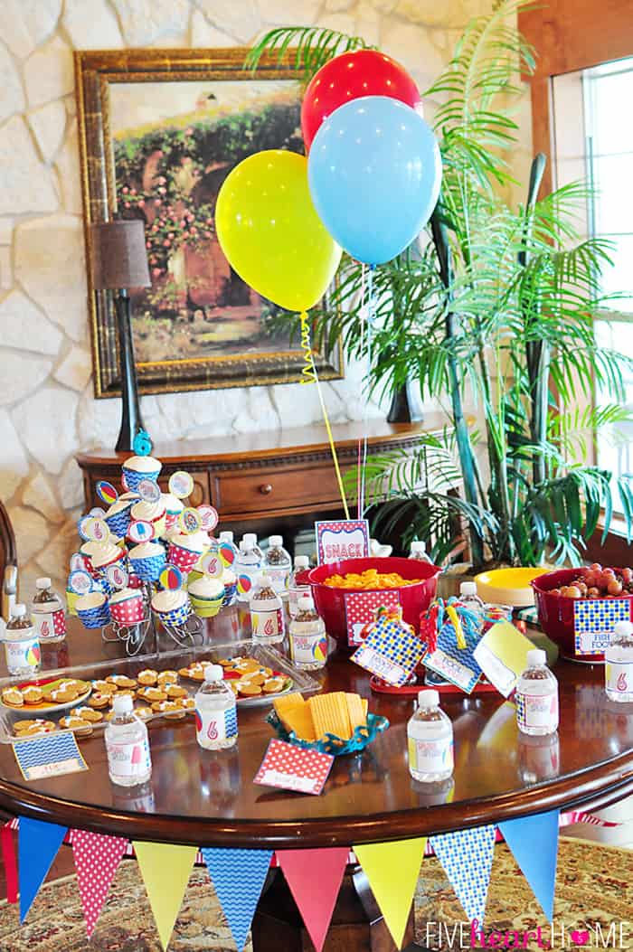 6th Birthday Pool Party | {Five Heart Home}