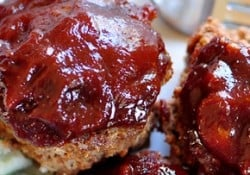 BBQ Sauce Glazed Meatloaf Muffins | {Five Heart Home}