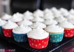 Best Ever Vanilla Texas Sheet Cake Cupcakes with Cream Cheese Frosting | {Five Heart Home}