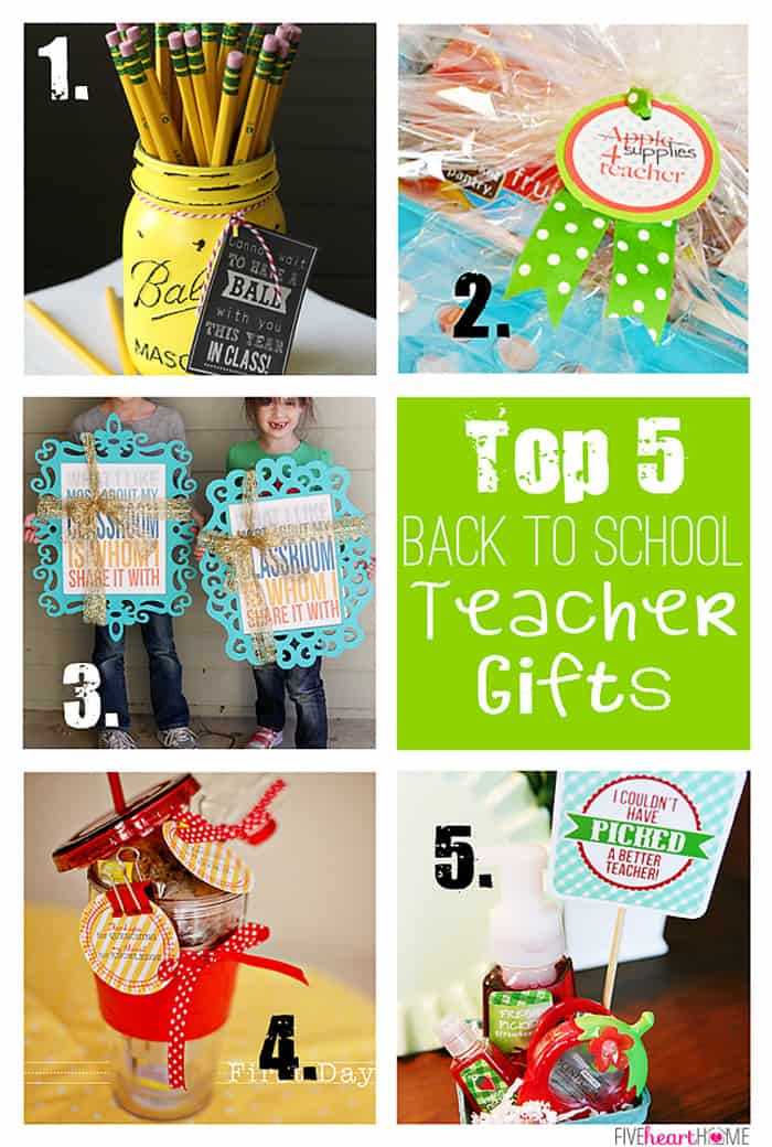 Top 5 Back to School Teacher Gifts | {Five Heart Home}