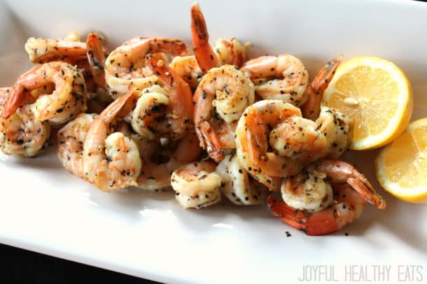 Grilled Garlic Basil Shrimp