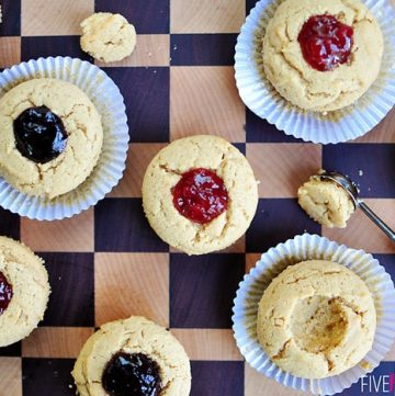 Peanut Butter and Jelly Muffins ~ a perfect after school snack on the first day of school (or any day after that!) | {Five Heart Home}