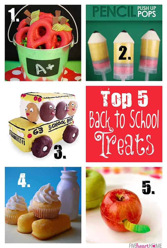 Top 5 Back to School Treats | {Five Heart Home}