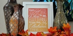 Fluttering Leaves Fall Quote, by Emily Bronte ~ Free Printable | {Five Heart Home}