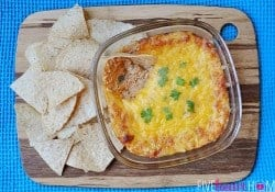 Green Chile Chicken Enchilada Dip | {Five Heart Home}