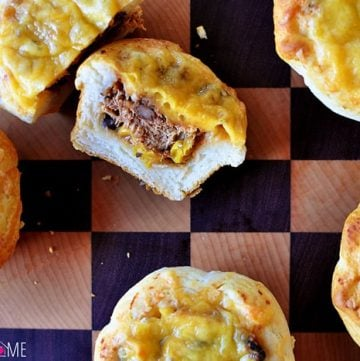 Cheesy Biscuit Cups ~ A Quick and Easy Meal to Use Up Leftovers!