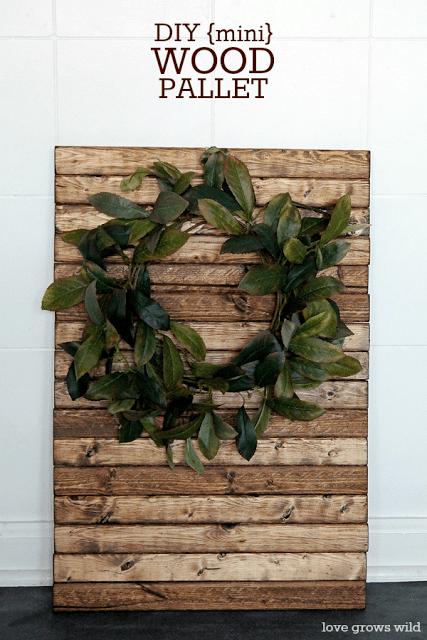 DIY Mini Wood Pallet by Love Grows Wild