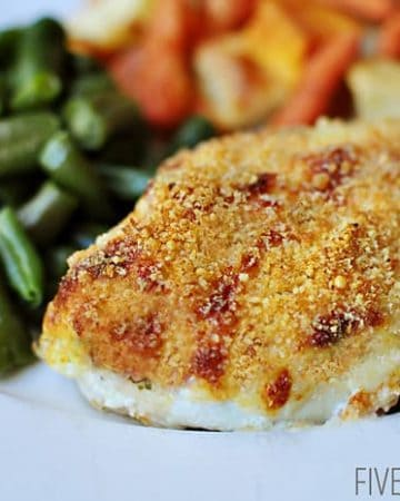 Parmesan Panko Crusted Baked Chicken   {Five Heart Home}