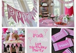 Pink First Birthday Party | {Five Heart Home}