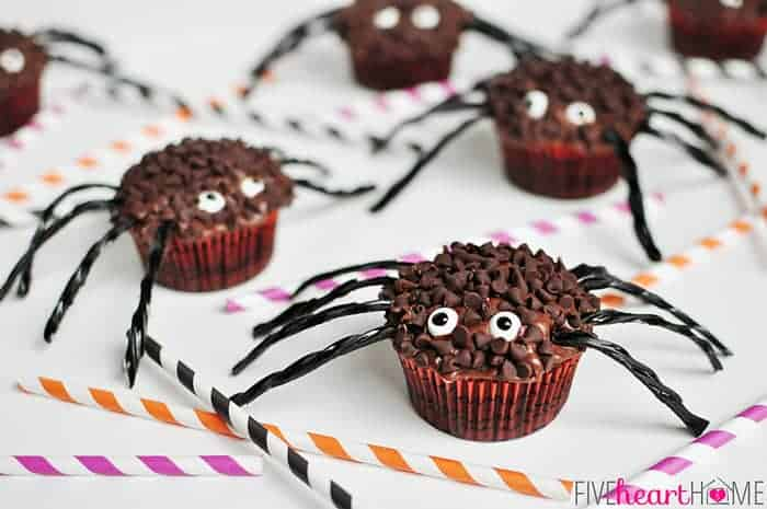 chocolate toppers chili chocolate spider chili chocolate cupcakes ...