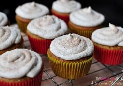 Brown Butter Pumpkin Cupcakes with Cinnamon Buttercream Frosting