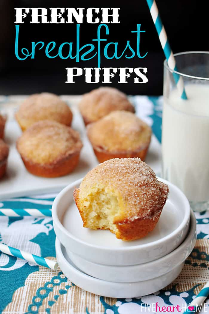 Breakfast Puffs ~ sweet, tender muffins dipped in butter and cinnamon ...