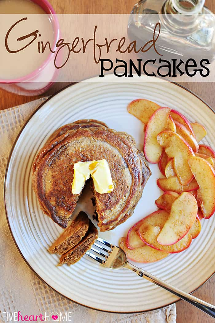 Gingerbread Pancakes with Text Overlay