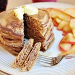 Gingerbread Pancakes ~ perfect for a holiday breakfast or any day! (a copycat recipe of Kerby Lane Cafe) | {Five Heart Home}