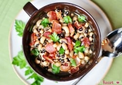 Black-Eyed Peas with Bacon ~ For Luck on New Year's Day!