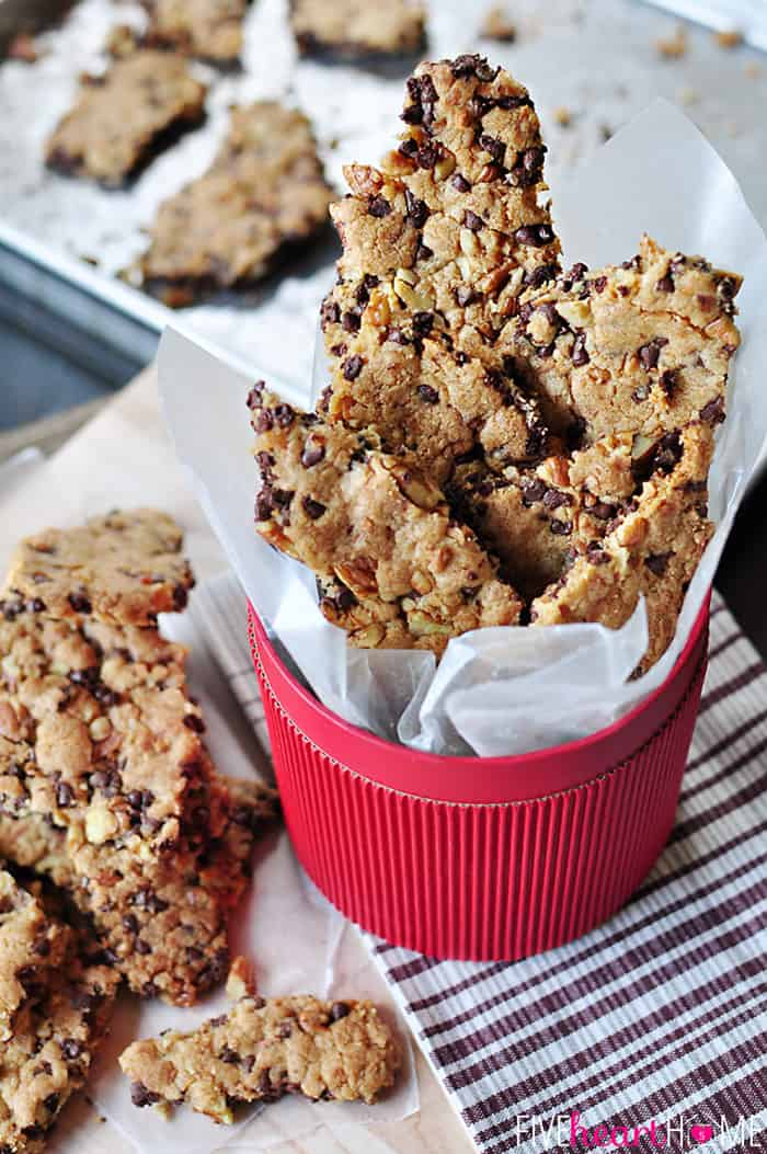 Chocolate Chip Cookie Brittle with Pecans and Coconut ~ crunchy like ...