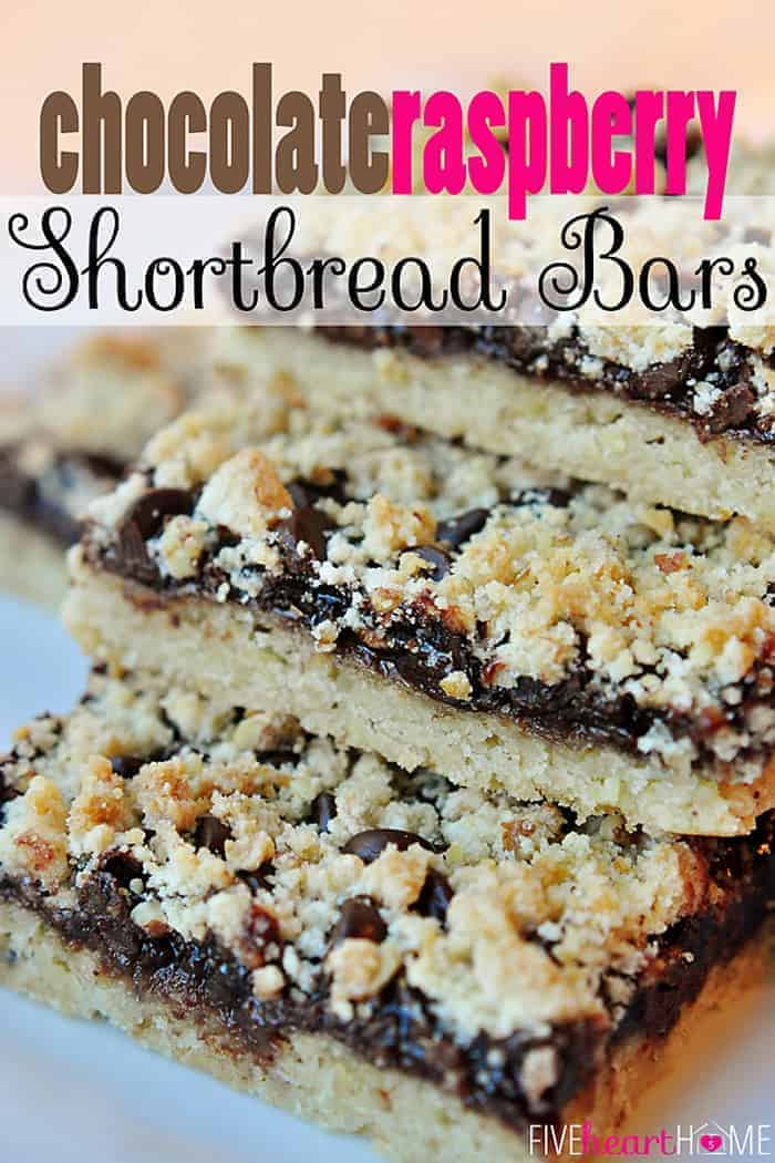 ... shortbread, raspberry jam, and semisweet chocolate chips | {Five Heart