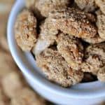 Cinnamon Sugar Candied Pecans ~ great for snacking, salad topping, or holiday gift giving!| {Five Heart Home}