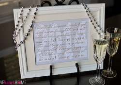 New Year's Free Printable ~ Auld Lang Syne