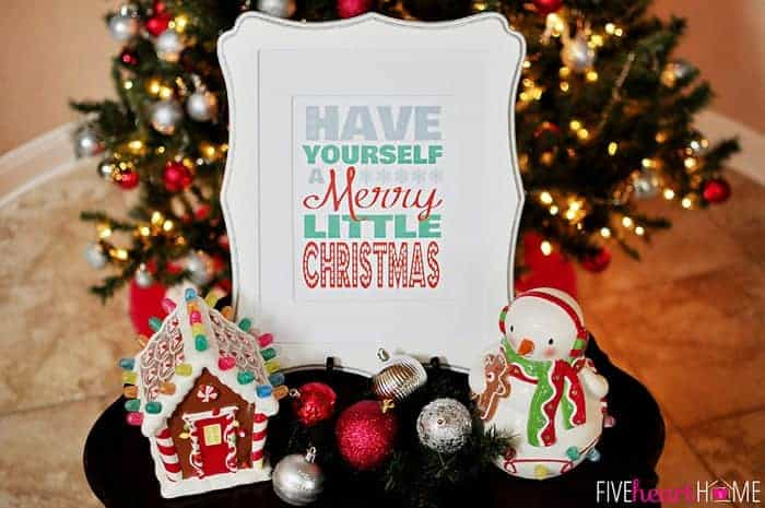 free christmas printable have yourself a merry little christmas five heart home