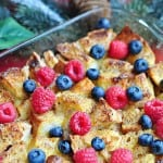 Overnight Eggnog French Toast Casserole ~ perfect, make-ahead breakfast for Christmas morning! | {Five Heart Home}